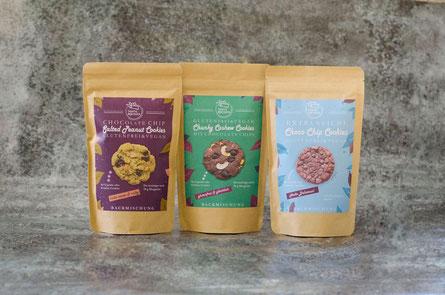 glutenfreie und vegane Choco Chip Cookies, laktosefrei, weizenfrei