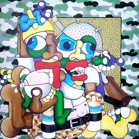 acrylique sur toile 100x100