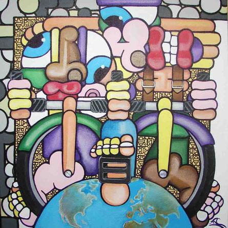 acrylique sur toile 40x40