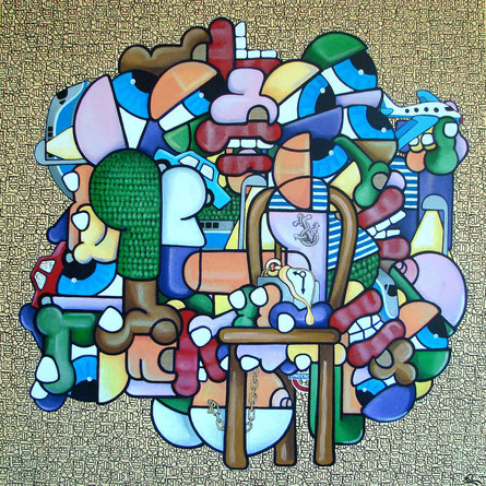 acrylique sur toile 80x80
