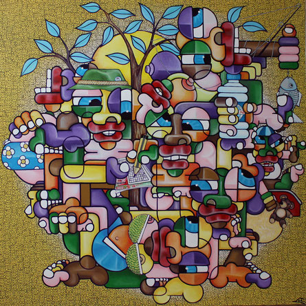 acrylique sur toile 150x150
