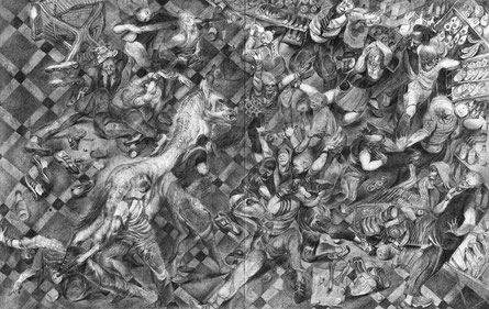 Matthias-Wyss-TAGESLICHT-DAYLIGHT-2011–2014-Pencil-On-Paper-22-x-44-Cm-4