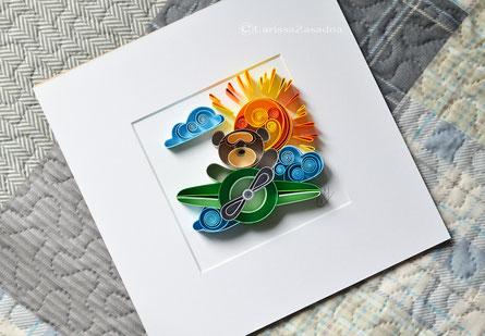quilling , art, paper art, quilling paper art, animals quilling art, quilling bear, kids art, quilling kidsroom, paper,  quilling wall art, artwork, квиллинг, Larissa Zasadna, Лариса Засадная, Квиллинг бумага
