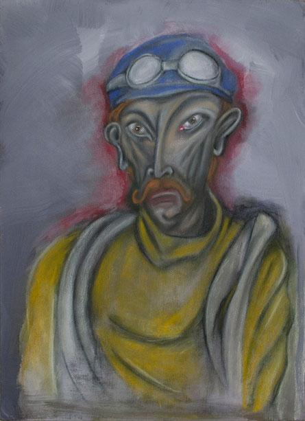 Peinture de Eloi Valat le champion cycliste