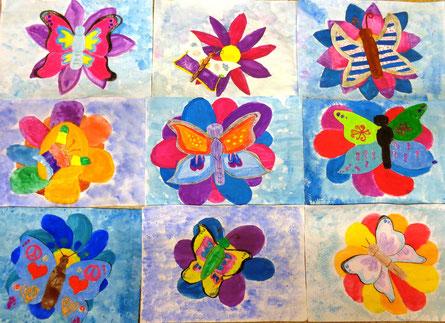 Blume mit 3D-Schmetterling  - 1.NMS