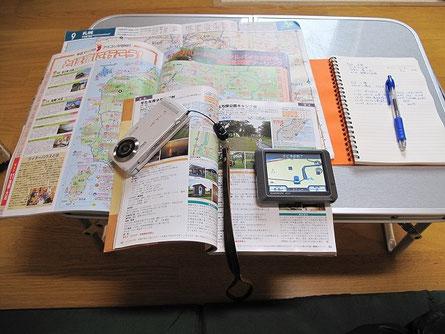 明日の計画を練ったり、日記を書く