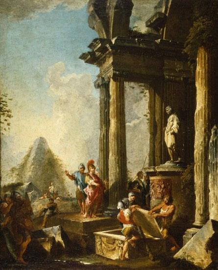 Alejandro Magno; Aquiles; arte; Troya;