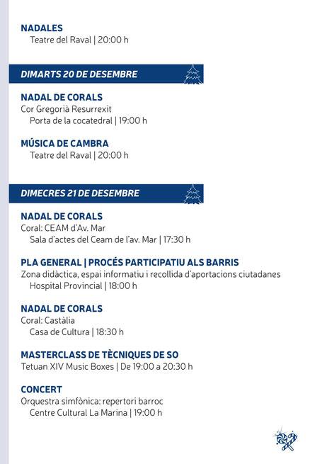 Programación de la Navidad en Castelló