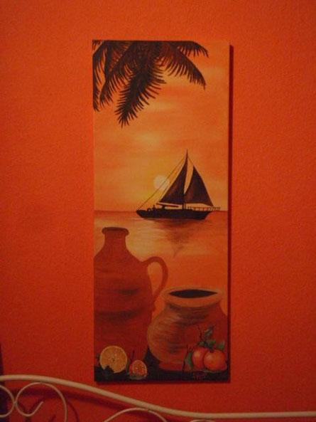 Acryl auf Leinwand 1 Meter x 40 cm