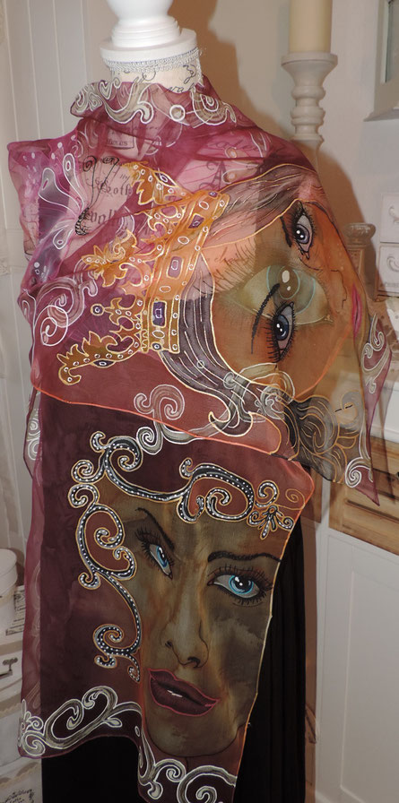 Seidenmalerei auf Chiffonseide