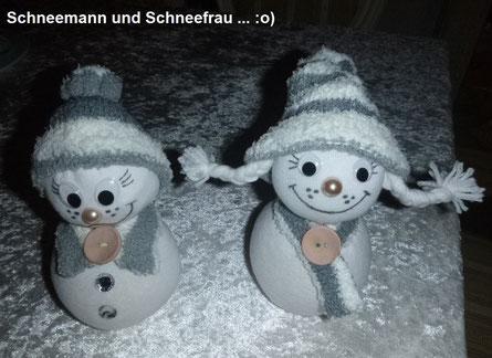 Socken-Schneemann :o)