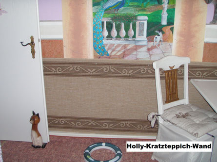 Holly hatte am Wandbild gekratzt (Kratztechnik) - hahahaha ;o)