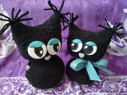 Eulentiere aus Socken :-)