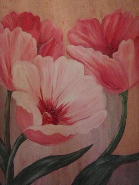 Tulpen - Acryl auf Leinwand 70 x 50 cm
