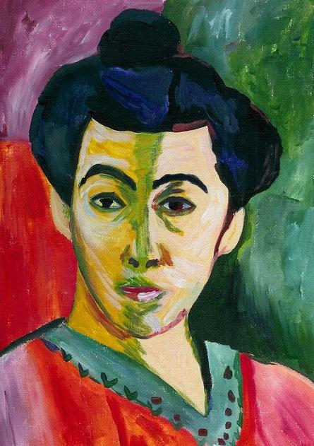 """Wunsch meiner besten Freundin ... """"Madame Matisse"""" für sie nachgemalt :-)"""