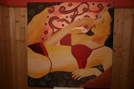 Acryl auf Leinwand 1 Meter x 1 Meter