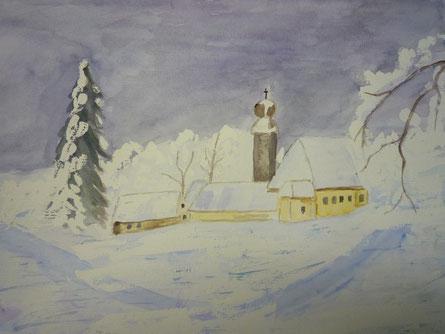 Winterlandschaft nach Vorlage