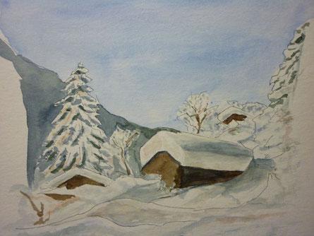 """""""eingeschneit in den Bergen"""" 2013"""