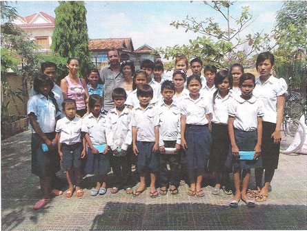 Le groupe de nos 20 filleuls
