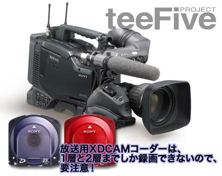 XDCAM カムコーダー 一体型カメラ 放送用 1層 2層 プロフェッショナルディスク