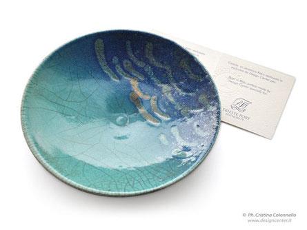 Ciotola in ceramica raku - Autorità Portuale Trieste