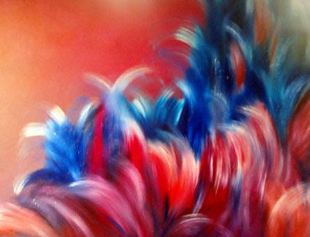 peinture abstraite couleurs vives