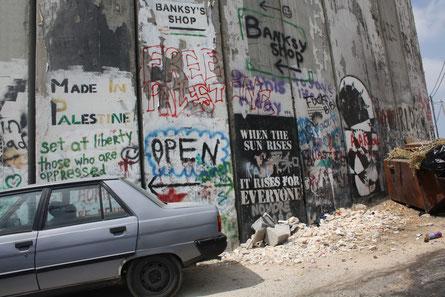Mauer zwischen Jerusalem und Bethlehem