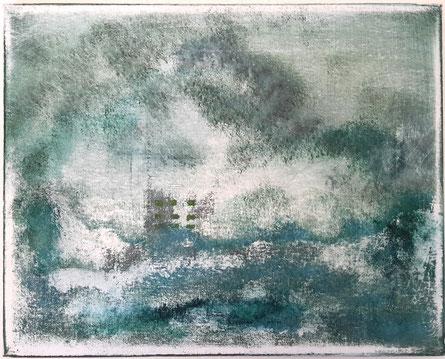 """""""FUKUSHIMA""""      Acryl on canvas  (30x24cm)"""