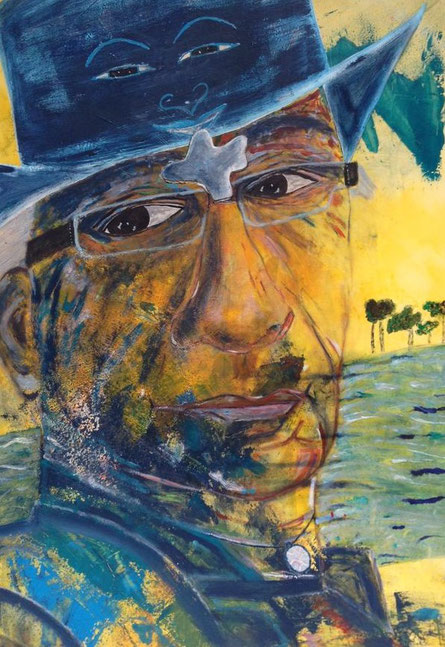 """""""21  - completion"""", Acryl on canvas, 70x100cm, Alexandra Benesch"""