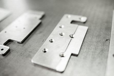 Rohmateriallager für schnelle Lieferzeiten in der Blechverarbeitung.