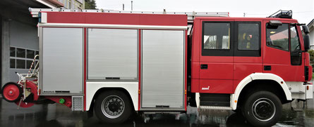 Feuerwehrfahrzeug ohne Beklebung