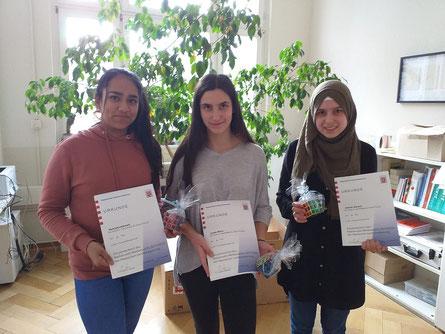 Die Gewinner der ersten Runde des Mathewettbewerbs - Herzlichen Glückwunsch!