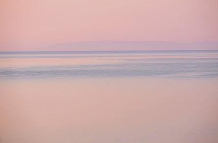 Mathieu Guillochon, couleur, rose, photographie, aube, mer, méditerranée, Grèce, Péloponnèse, Magne, Skoutari, visualisme.