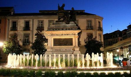 Malaga, Springbrunnen