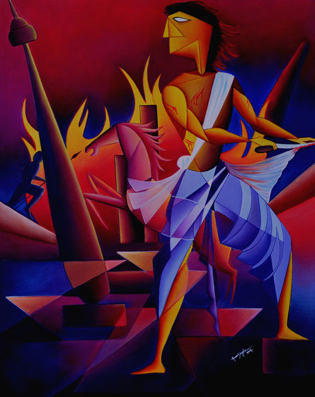 art_oil_painting_raag-nattnarayan_amar_singha