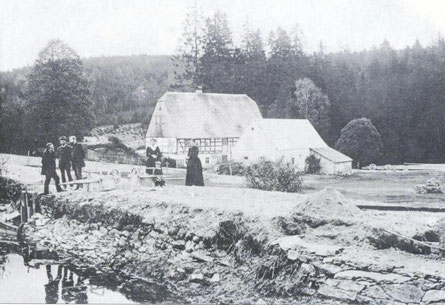 Bild: Teichler Wünschendorf Erzgebirge Buschmühle Heinzewald