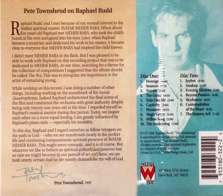 CD ; back cover