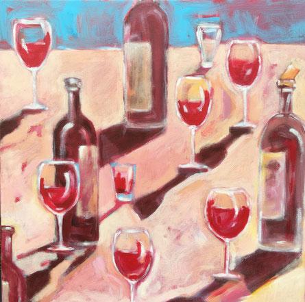 acryl op doek. 50 x 50 cm. Te koop bij Korsman kunsthandel & lijstenmakerij Oegstgeest