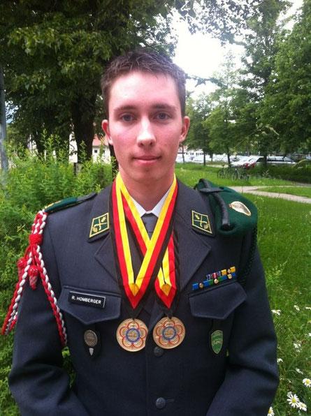 René Homberger, Erster Internationaler Einsatz im CISM Team Schweiz und in Sonthofen GOLD mit dem Team gewonnen