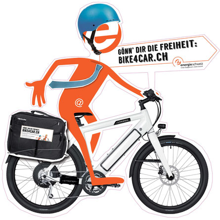 e-motion stellt Stromer e-Bikes zur Verfügung für die Aktion bike4car