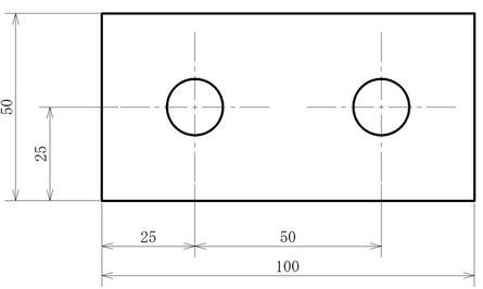 加工の原点は左下。すべての寸法は左下からとられています。