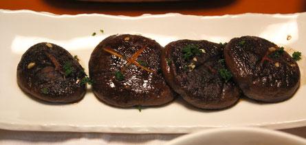 肉厚の大きなシイタケ バター醤油味のステーキにしたら最高だった!