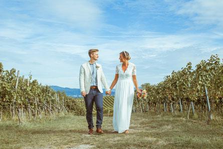 Hochzeitsbild von Anja und Guido am Kaiserstuhl - von Timo Erlenwein Fotografie