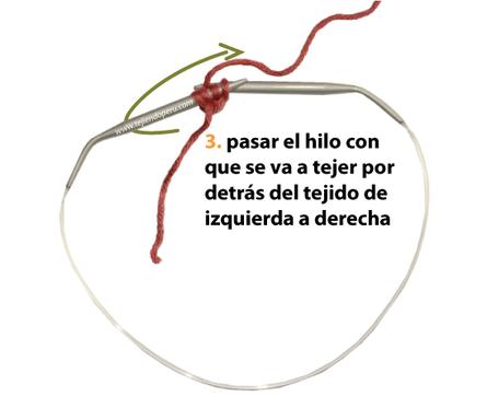 Cómo tejer un I-cord o cordón tubular en dos agujas o palitos