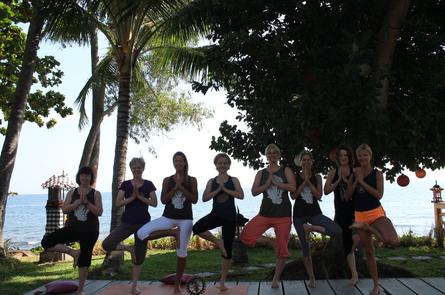 Eine der vielen Yoga-Gruppen in Retreats mit Veronika Rössl