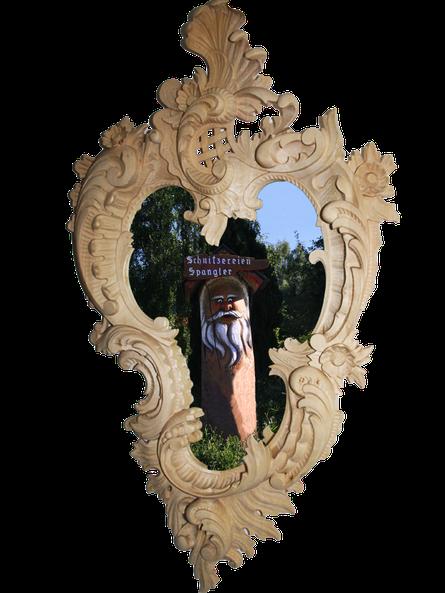 Bild Spiegelrahmen mit Wurzelsepp