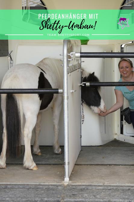 Pferdeanhänger mit Umbau für Shetlandponys, Shetty-Anhänger