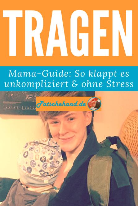 Grafik für Pinterest oder facebook zum Beitrag auf Mama-Blog Patschehand.de über die Tragehilfe Bondolino