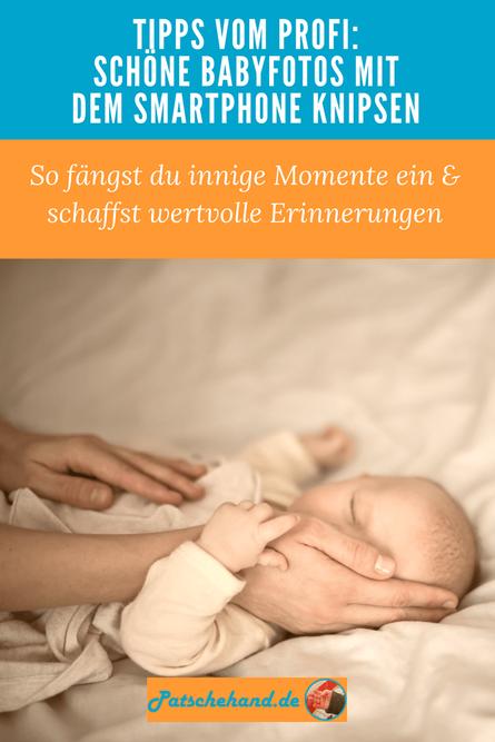 Grafik Babyfoto-Tipps für Pinterest oder zum Teilen auf Mama-Blog aus Berlin-Friedrichshain Patschehand.de