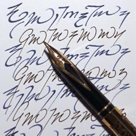 Feder und Tinte / Schreiben und Schrift